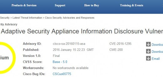 Cisco - ASA security vulnerability